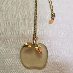 Vintage Avon Apple Necklace